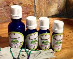 Organic White Sage Essential Oils in 4 Sizes from 10 ml to 50 ml @ Natural Sage®